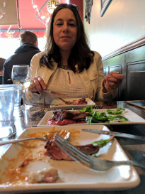 Michele at Gustavos in Waltham